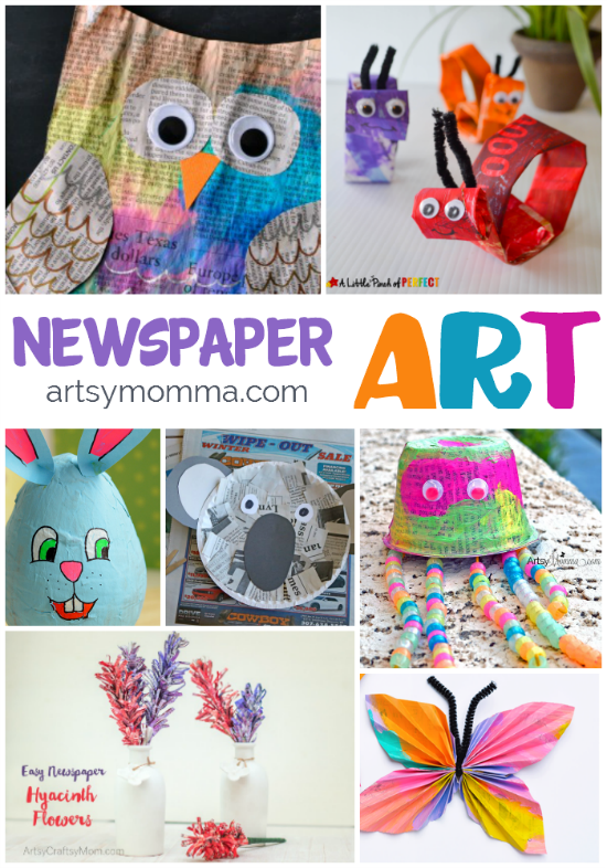 Getting Artsy With Recycled Newspaper Crafts Art And Crafts For