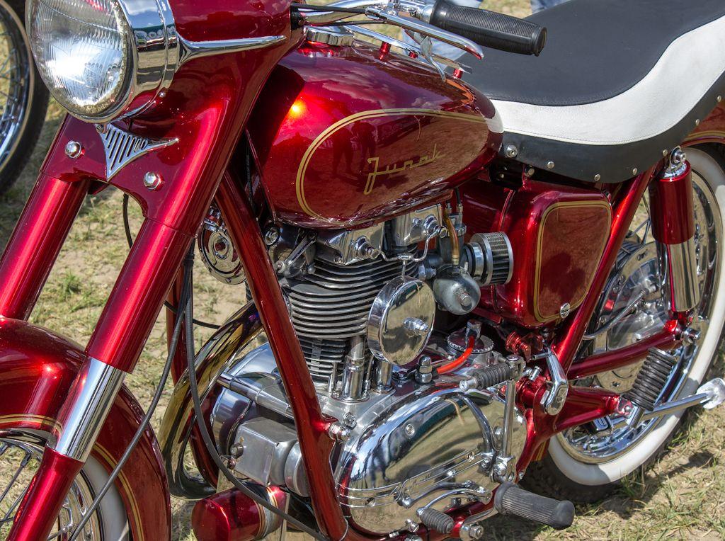 Junak motocykl - Polish Junak 350 M10 1964 - biker meeting
