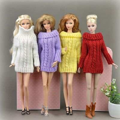 Details about Knitted Handmade Sweater Top Coat Clothes Doll costume for fit 11.5 inch Doll #dollcostume