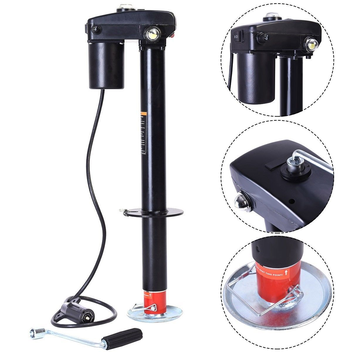 Details about 3500 lbs Electric Power Tongue Jack RV Boat
