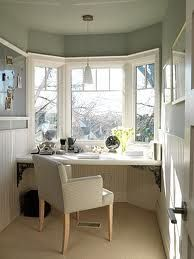 Bay Window Ideas Google Search Home Built In Desk Home Office Space