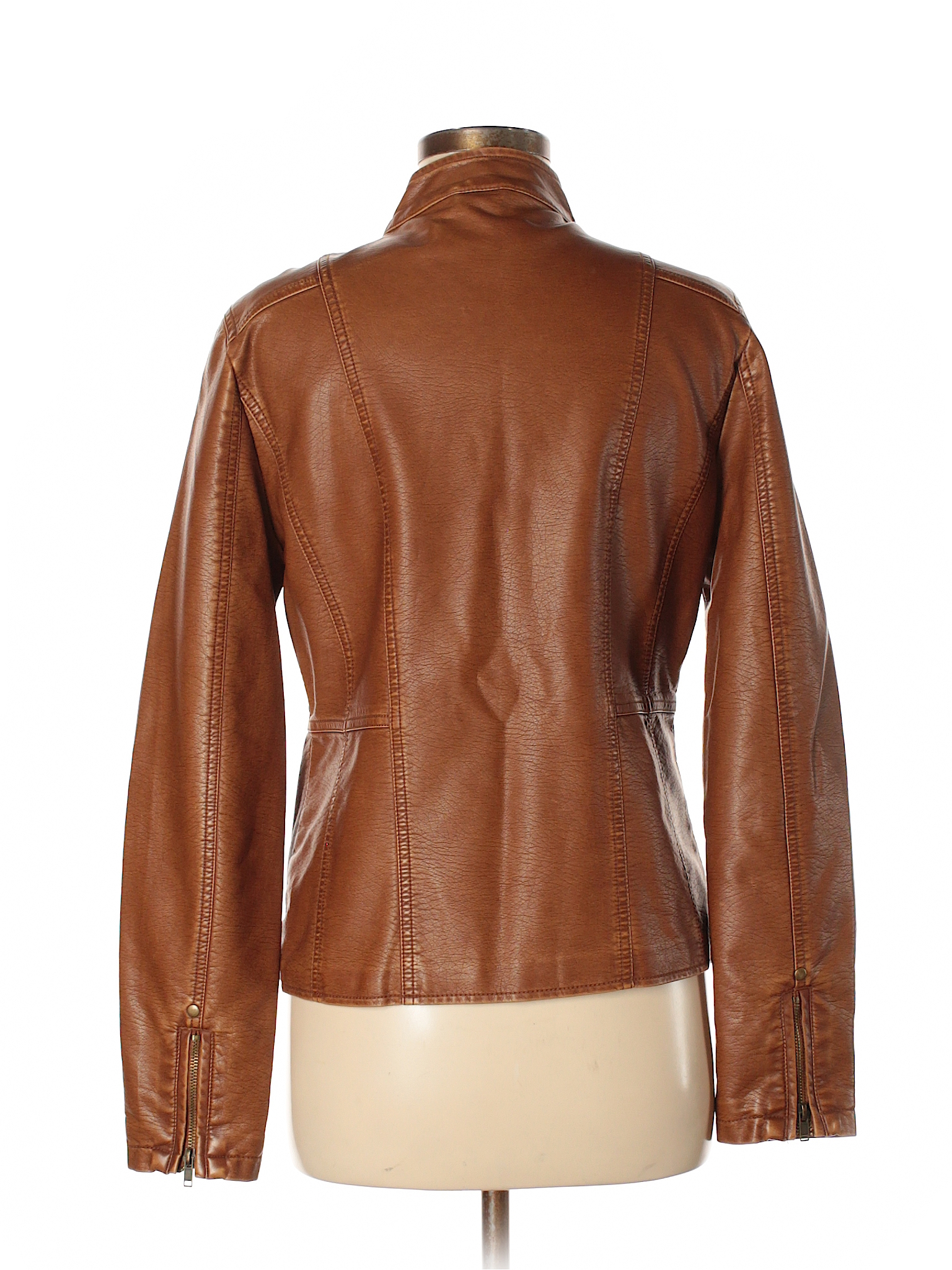fb42aba43 Faux Leather Jacket | Products | Faux leather jackets, Brown faux ...