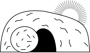 Empty Tomb He Is Risen Bible Coloring Pages Coloring Pages Sunday School Kids
