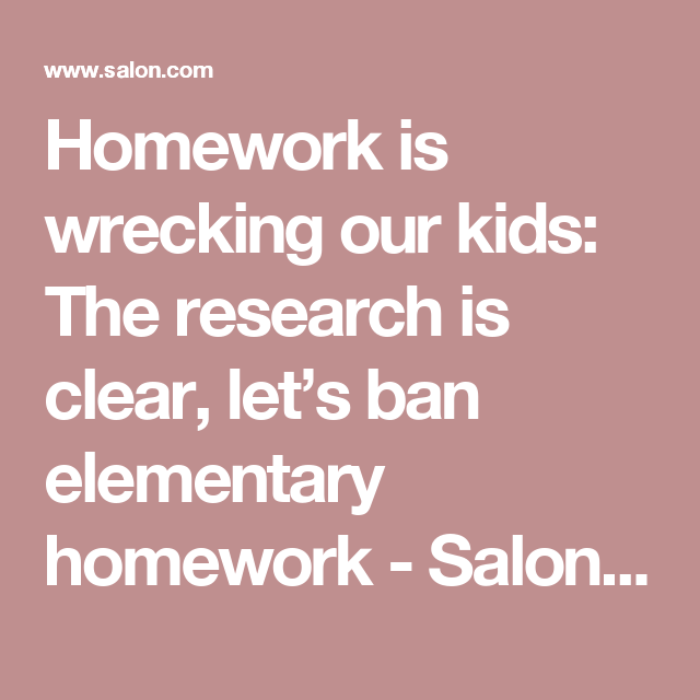 ban on homework