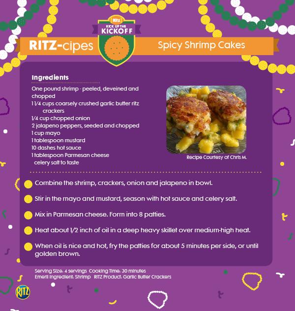 Spice it up a notch with these tasty shrimp cakes. #shrimp #gameday #tastydishes