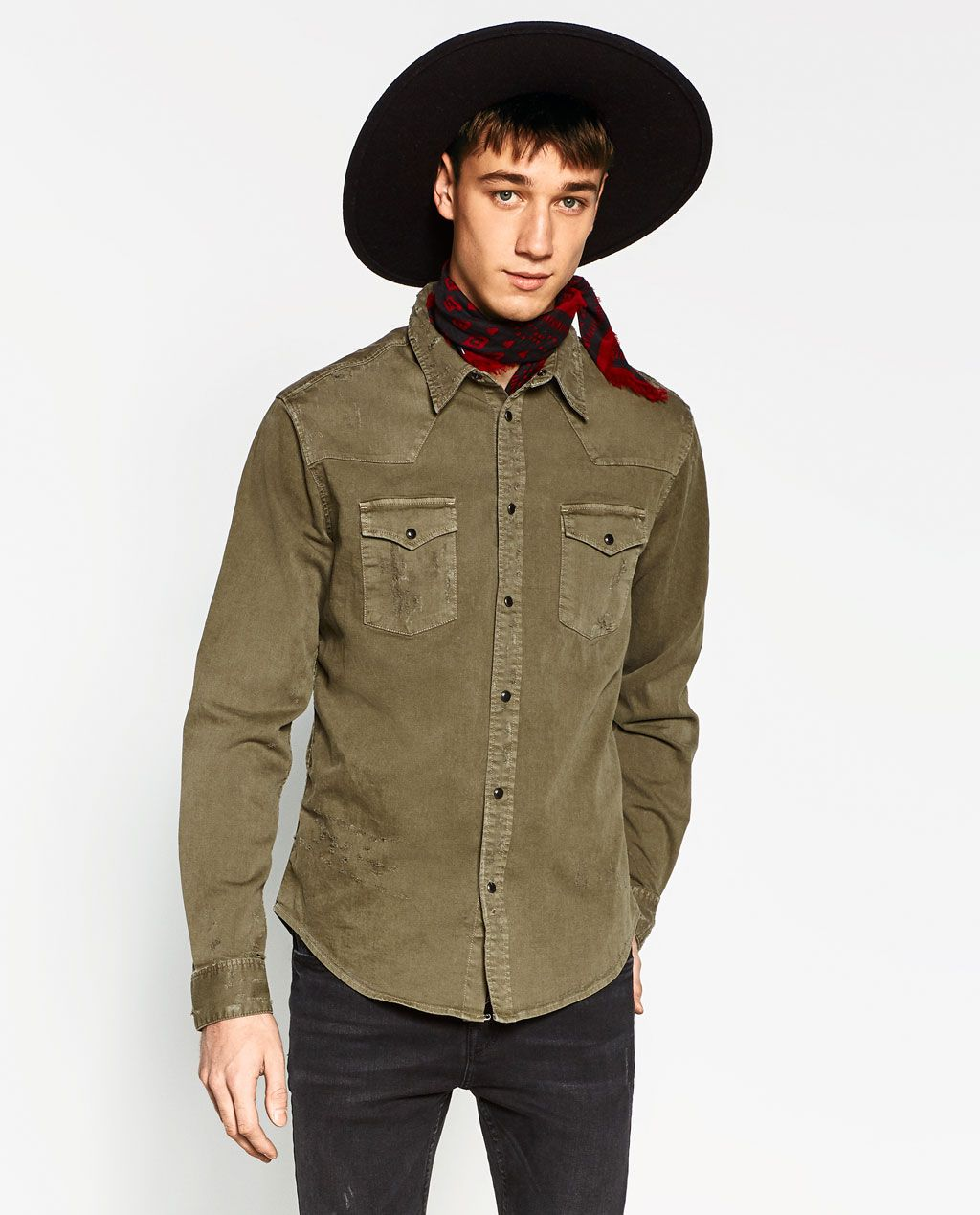 Image 4 of from Zara Zara, Bomber jacket, Military jacket