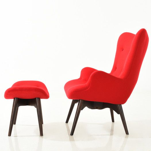 Incredible Edgemod Auzzie Lounge Chair And Ottoman Allmodern Living Dailytribune Chair Design For Home Dailytribuneorg
