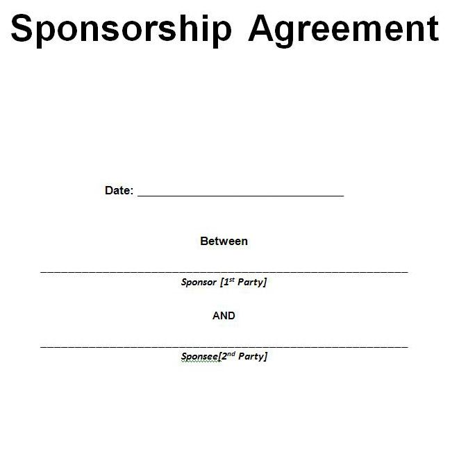 sponsorship template sles and pdf excel about | News to Go 2 ...