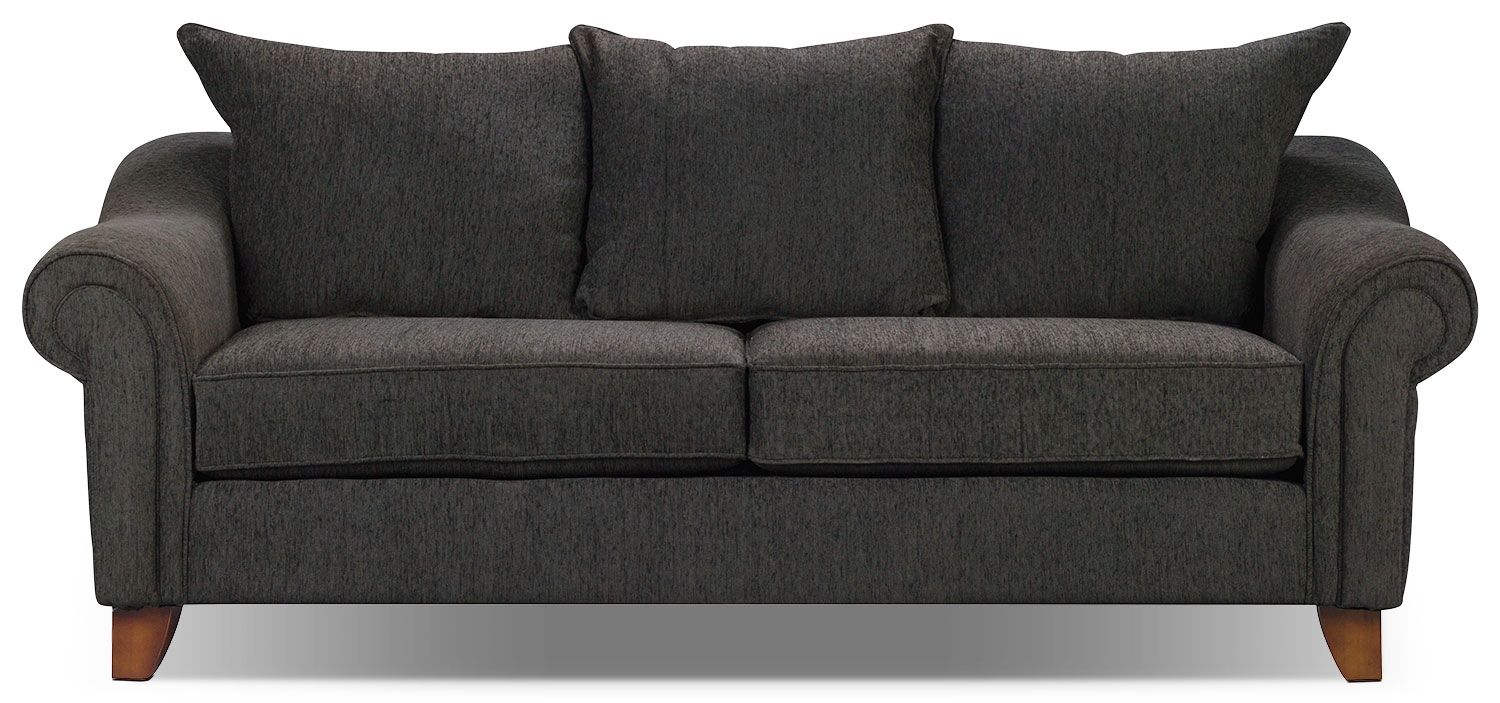 Living Room Furniture - Reese Chenille Sofa - Dark Grey | Buzz couch ...