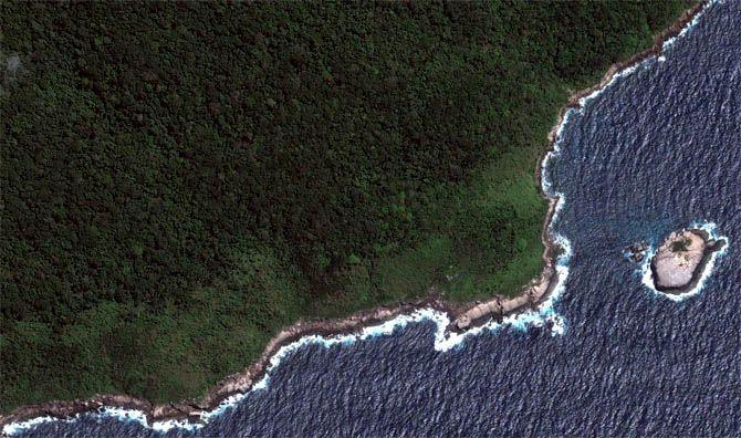 As maravilhas naturais do Brasil vistas do espaço - Ilha Grande