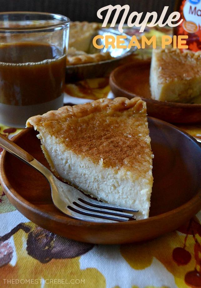 Maple Cream Pie #sugarcreampie