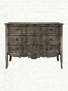 Plume Pressed Tin 3 Drawer Chest