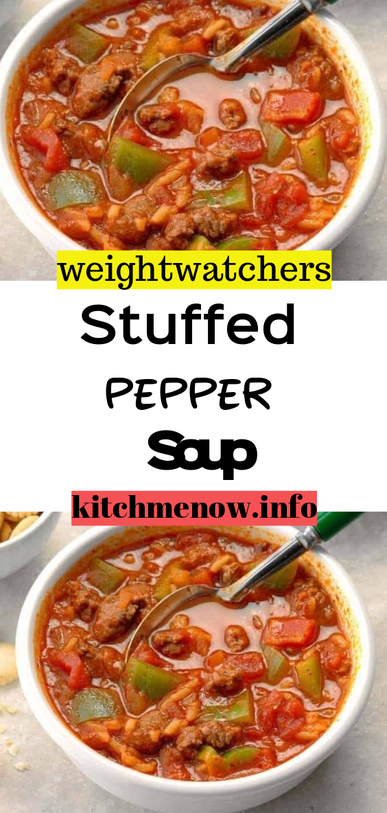 Stuffed Pepper Soup Healthy Beef Recipes Stuffed Peppers Stuffed Pepper Soup