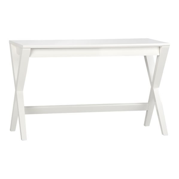 Pin By Lissette On Office White Writing Desk Furniture Crate And Barrel Desk