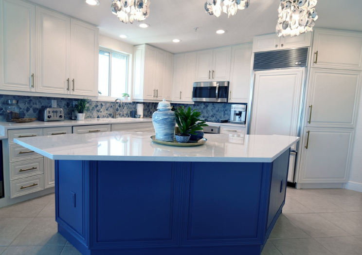 Give your kitchen some personality. This royal blue will ...