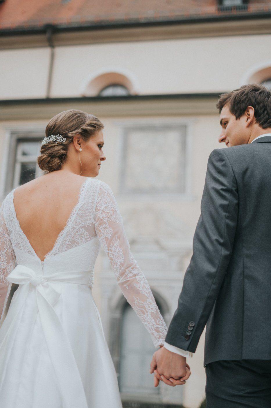 Brautkleid, Hochzeitskleid, Rückenfrei, Spitze, S/M, 36/38 ...