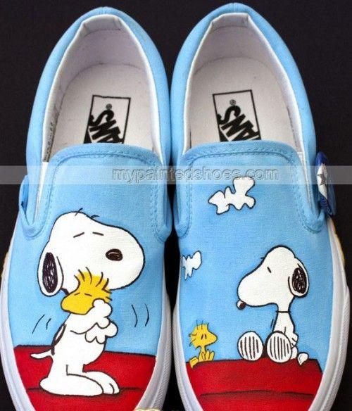 2fd65598dc Snoopy Vans Hand Painted Vans Shoes