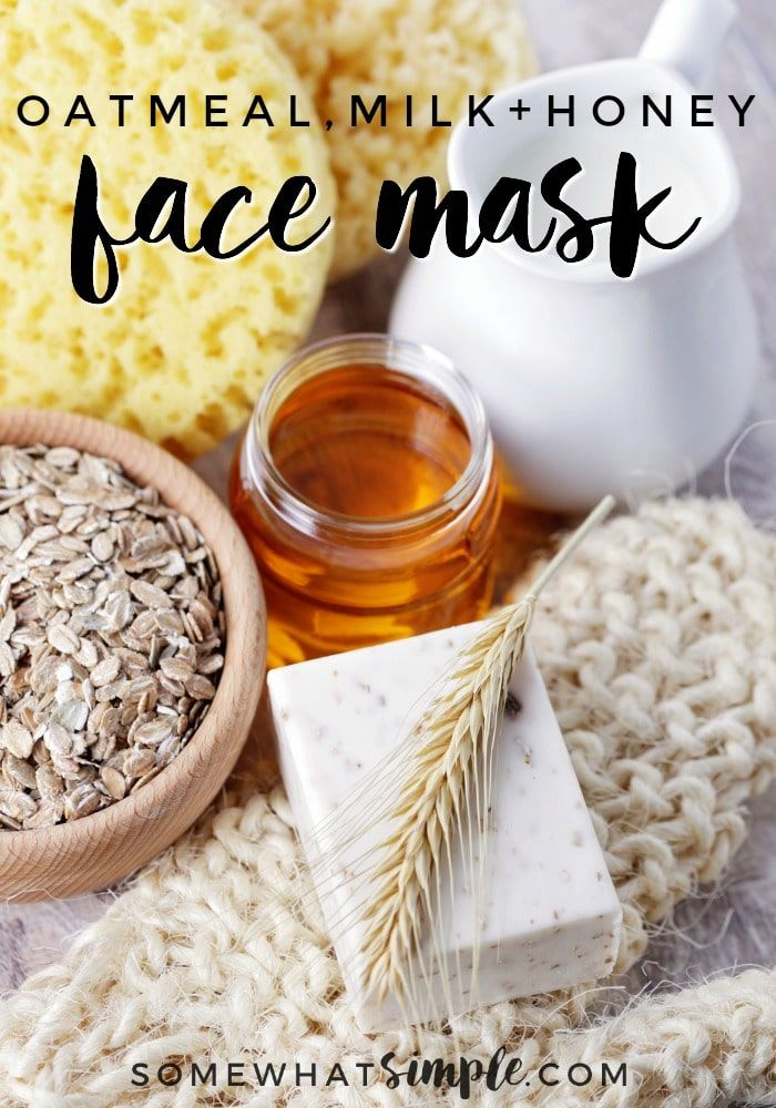 Easy Diy Honey Oatmeal Face Mask Somewhat Simple Oatmeal Face Mask Honey Facial Mask Oatmeal Face Mask Recipe