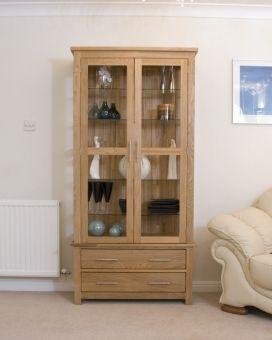 Opus Oak Glass Display Cabinet | Living Room Ideas | Cabinet ...
