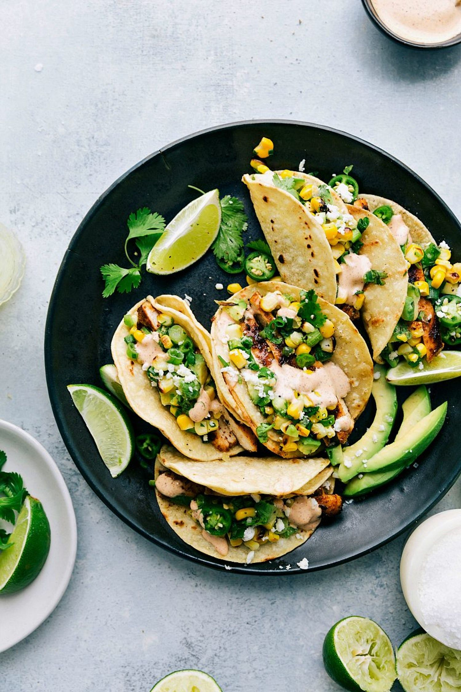 Make These Mexican Street Corn Chicken Tacos Tonight Delicious Links