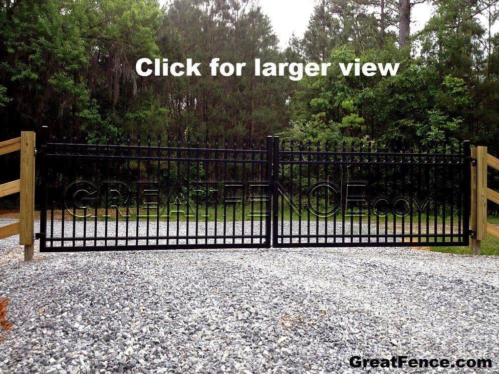 20 Foot Wide Driveway Gate With U Frame And Heavy Duty Gate Hinges All Powder Coated Satin Black And Installe Heavy Duty Gate Hinges Gate Hinges Driveway Gate