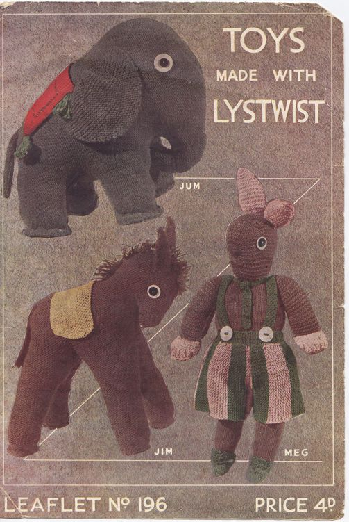 1940s knitted toy pattern