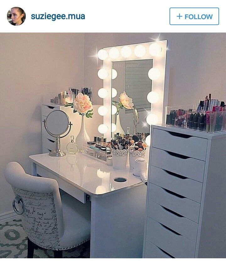 Nice set up Makeup Such Pinterest Tocador Dormitorio y