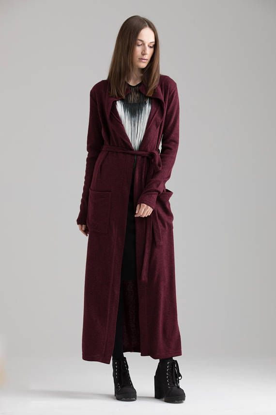 fb5d8c759fd Maxi Cardigan , Plus Size Women Cardigan Long Sweater Coat Winter Cardigan  Avant Garde Clothing Maxi