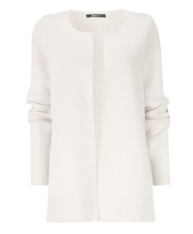 White knitted coat for late summer evenings...
