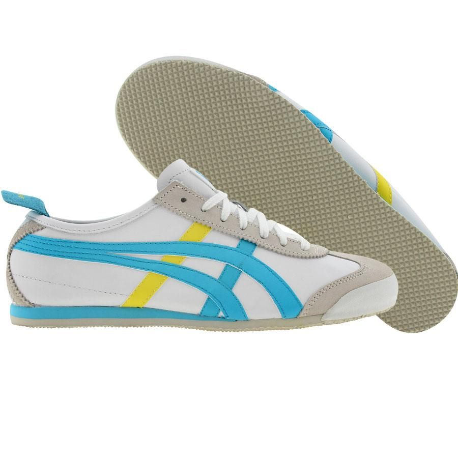 detailed look 07510 2a09c Asics Onitsuka Tiger Womens Mexico 66 (white / sky blue ...