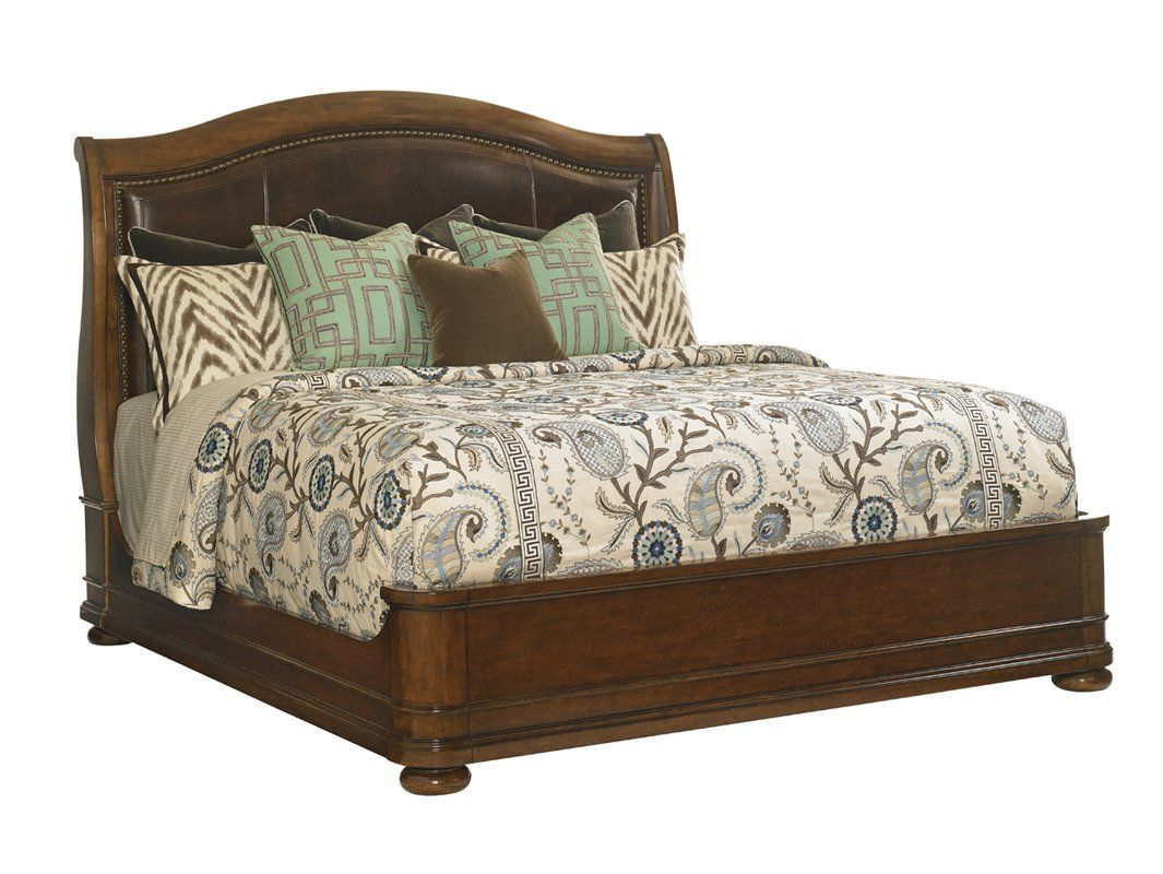 Coventry Hills Upholstered Panel Bed Upholstered Sleigh Bed Lexington Furniture Lexington Home