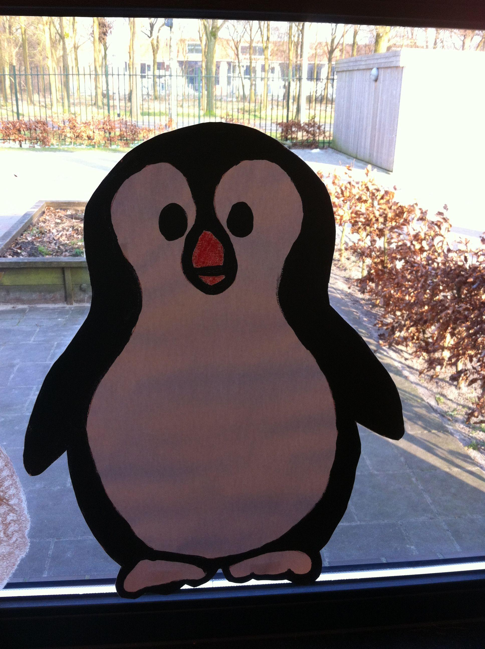 Een Pinguïn voor op het raam.