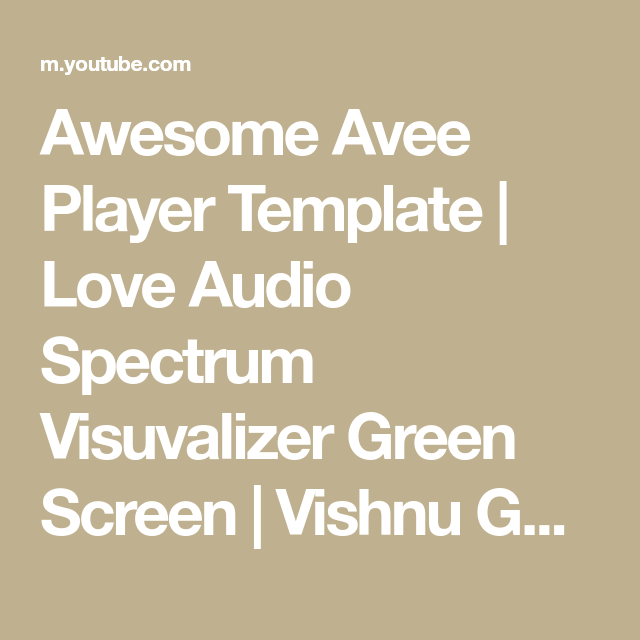 Awesome Avee Player Template