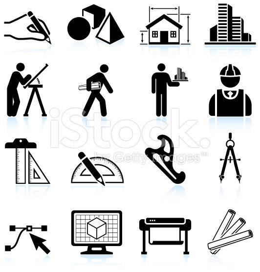 architecture black & white icon set | The Best of Technology