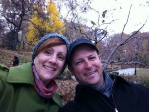 Me and Sarah in Central Park.  Nov. 2011