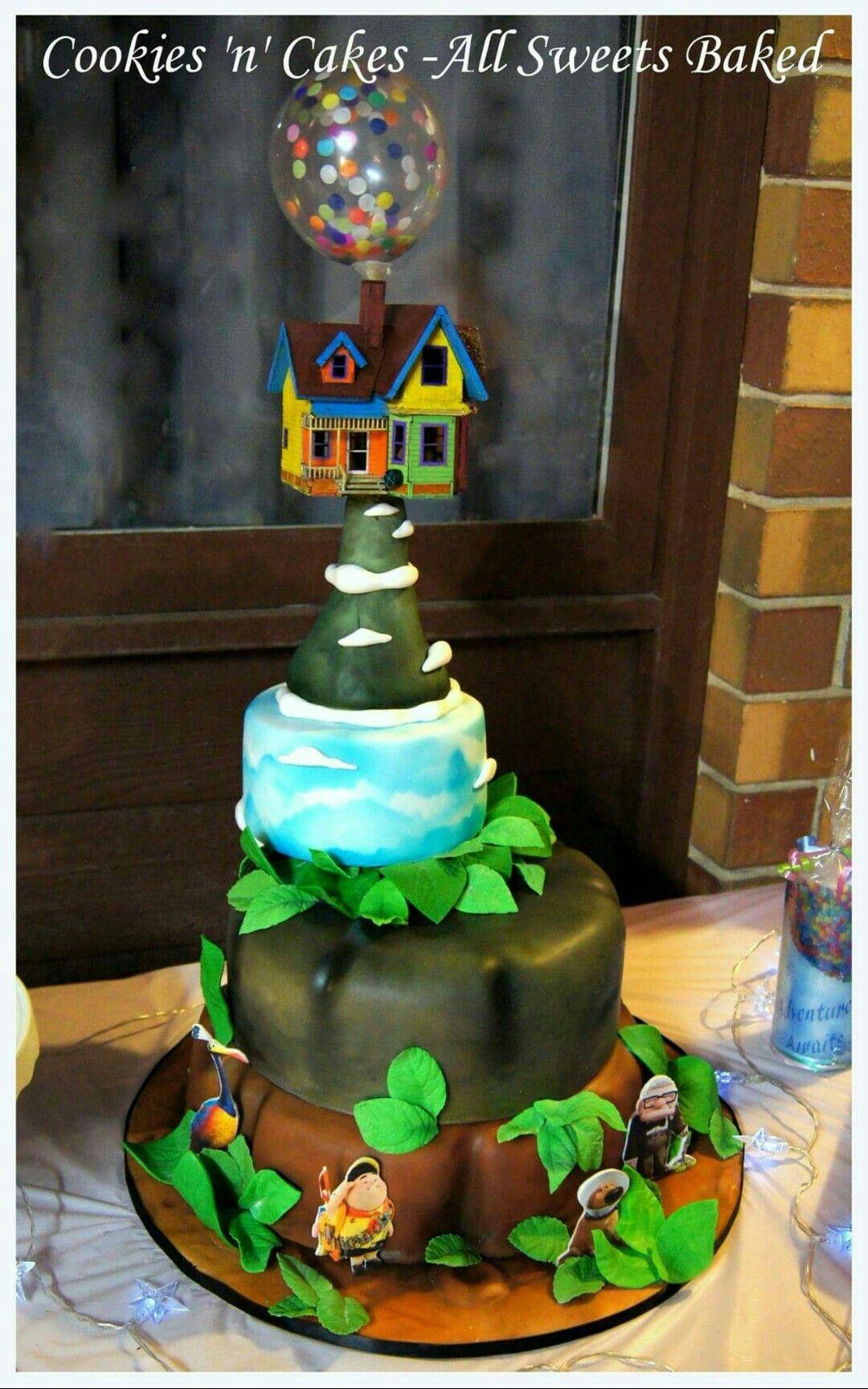 Disney Pixars Up Cake Carl Ellie Doug Kevin Adventure Awaits