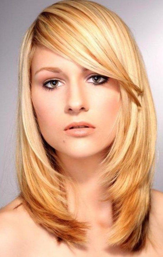 Frisuren lange haare pony blond