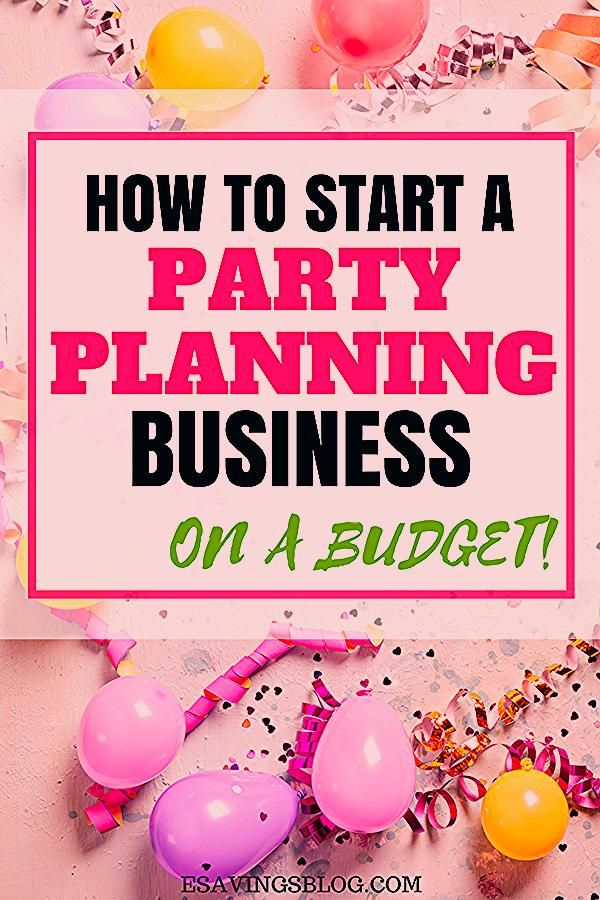 Party Planning Business Pricing