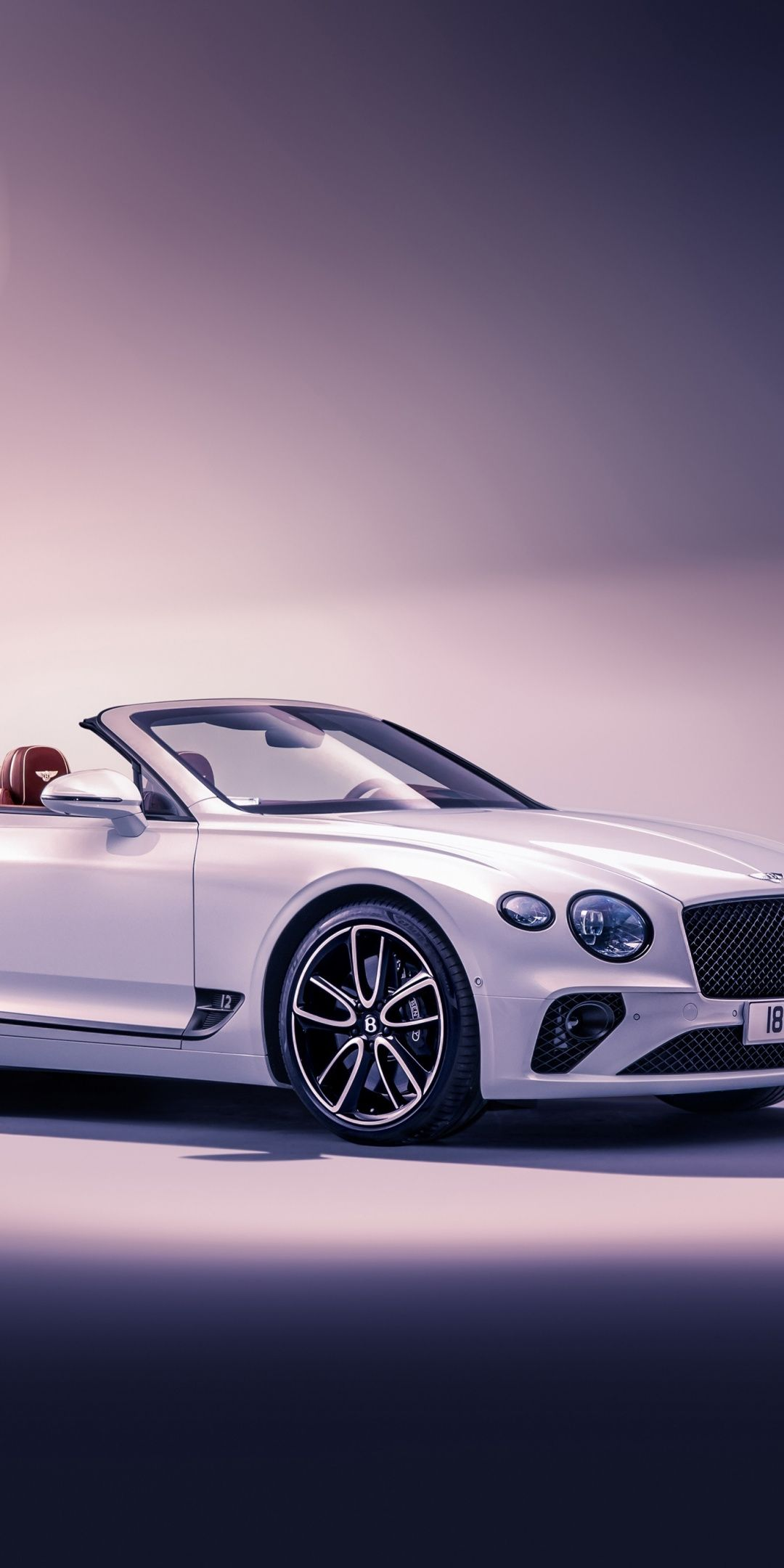 Luxury Vehicle White Bentley Continental Gt 1080x2160 Wallpaper