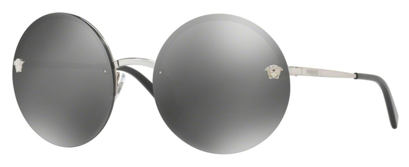 b81c7959c3 Versace Round Glam Medusa Sunglasses Silver Grey Mirrored VE2176 10006G  #glasses #Mirrored #rb4266 #U6H5P1 #kyliejenner #MU52QS #clubmaster  #heartglasses ...