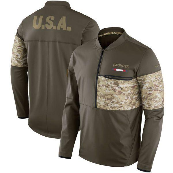 quality design 4c3cc ddaf9 Nike New England Patriots Olive Salute to Service Sideline ...