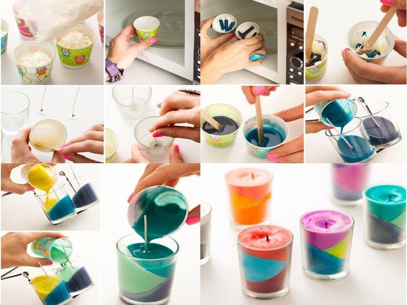 Preciosas velas con crayones diy pinterest vela con - Manualidades desde casa ...