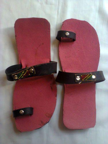 Kenya sandals-Masai Red recycled tire sandals.U.S SIZE11,U.K10.5,EUR44