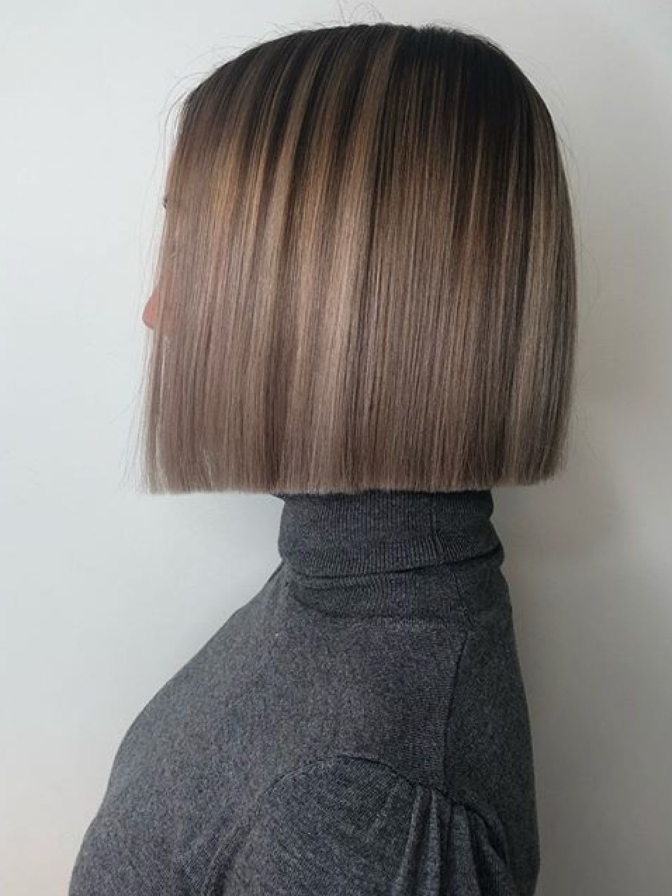 Love This Color Hair Styles One Length Haircuts One Length Hair