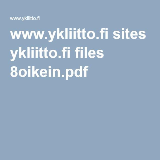 www.ykliitto.fi sites ykliitto.fi files 8oikein.pdf Sarjakuva-lehti on monipuolinen ja hauska oppimispaketti yläkoulu- ja lukioikäisille, jossa vuosituhattavoitteita käsitellään sarjakuvien ja vuorovaikutteisten tehtävien muodossa.