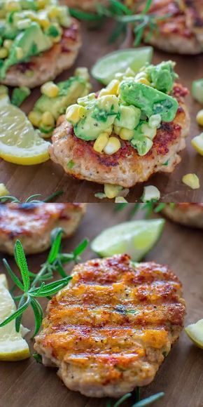 Photo of Chicken Burgers with Avocado Corn Salsa