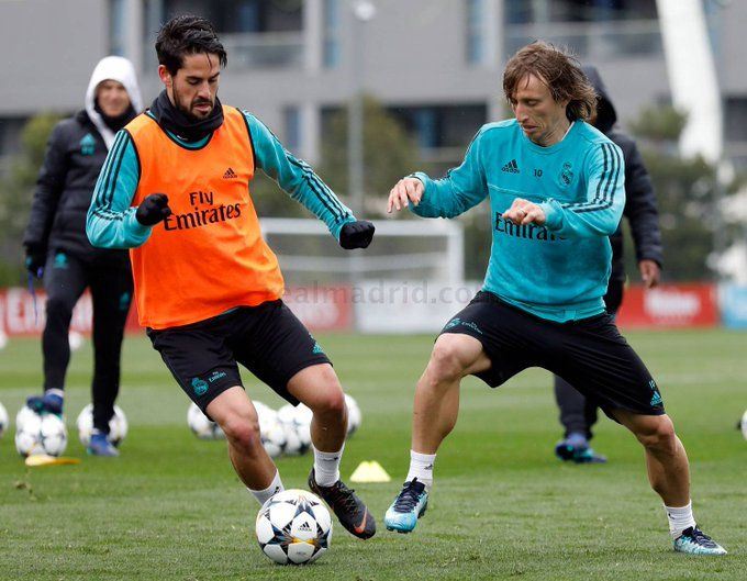 15b703c3b45 MODRIC   ISCO...training session!! RM vs Juventus Quarter-finals  2-leg