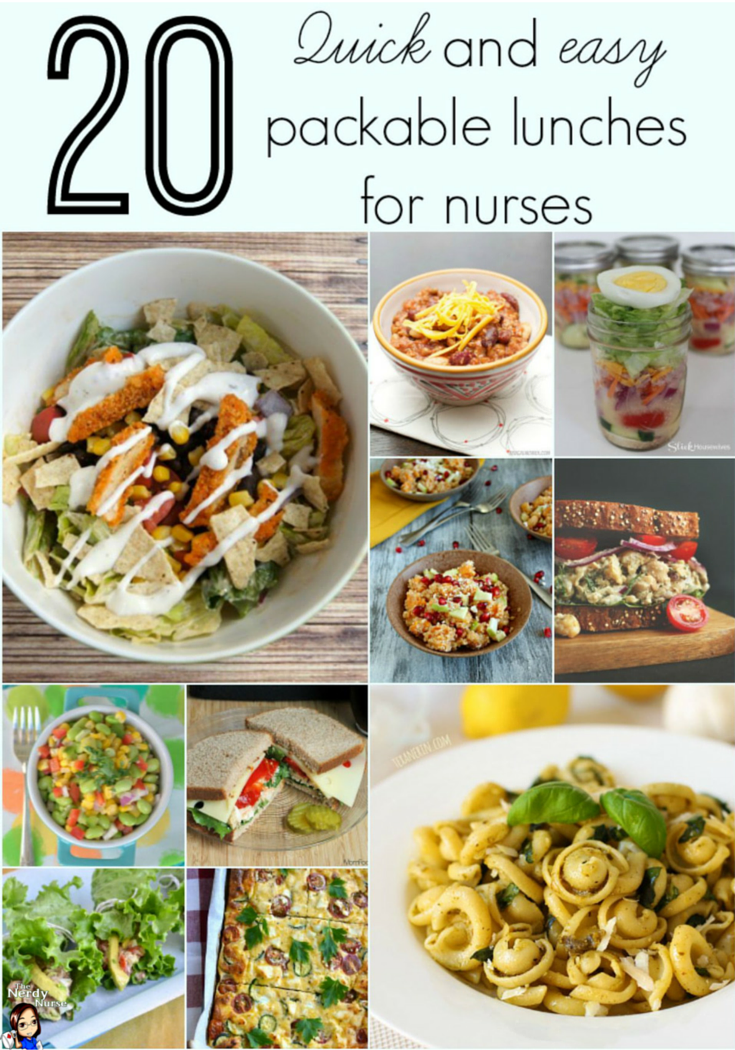 20 Quick and Easy Packable Lunches for Nurses | Nursing Pins