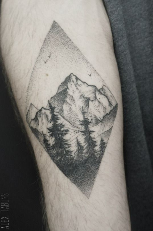 Great sky, trees, and the shading/line work on the