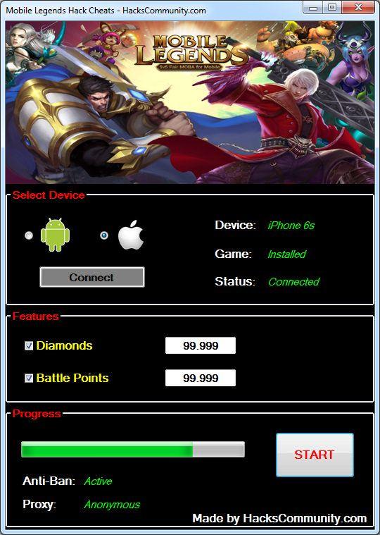 Cara Hack Game Online Android Mobile Legends | Games World